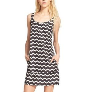Rag & Bone NWT Allie silk chevron print slip dress